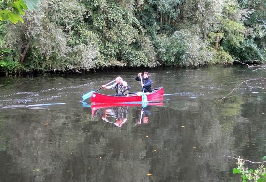 Kanulehrgang auf der Wupper